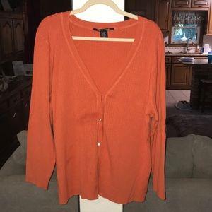 Bright Orange Pierre Cardin Cardigan